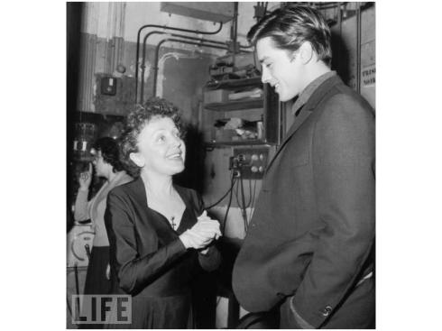 Edith Piaf meets Alain Delon November 1959